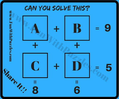Maths equations brain teaser for students