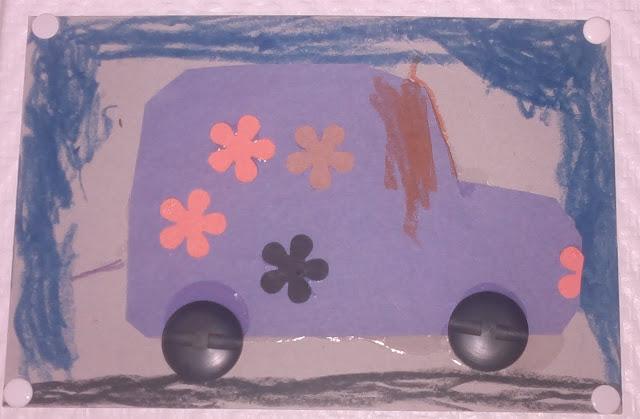 askarteluohje auto kortti isälle lapsi osaa