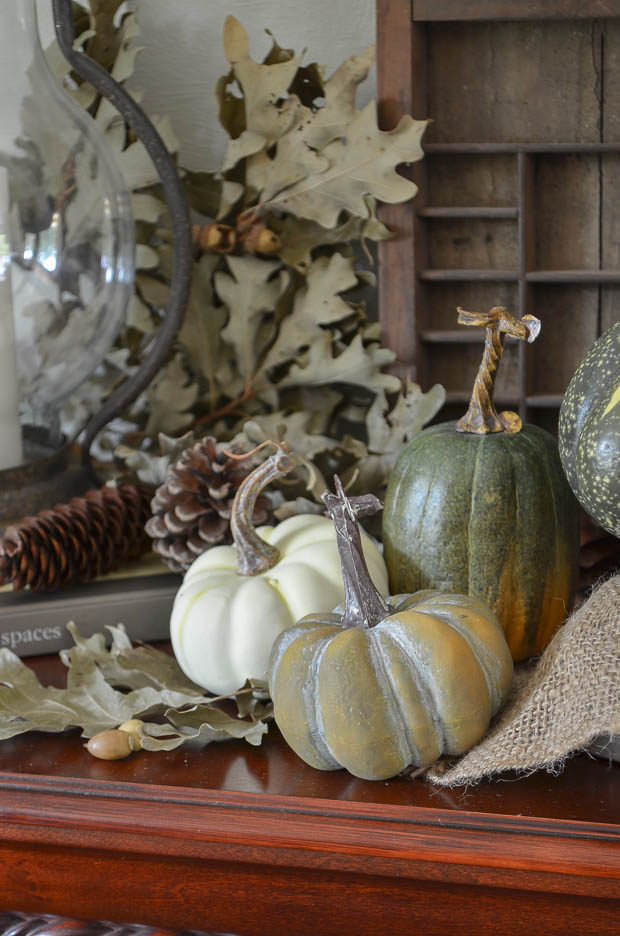 Mix and match colors and shapes of pumpkins for an interesting display.