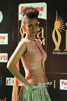 Akshara Haasan in Peachy Crop Top Choli Skirt at IIFA Utsavam Awards 72.JPG