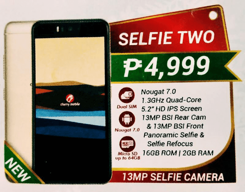 Cherry Mobile to launch Selfie Two w/ 13MP selfie camera soon!
