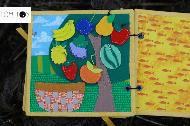 Bible quiet books handmade by TomToy Fruit of the spirit