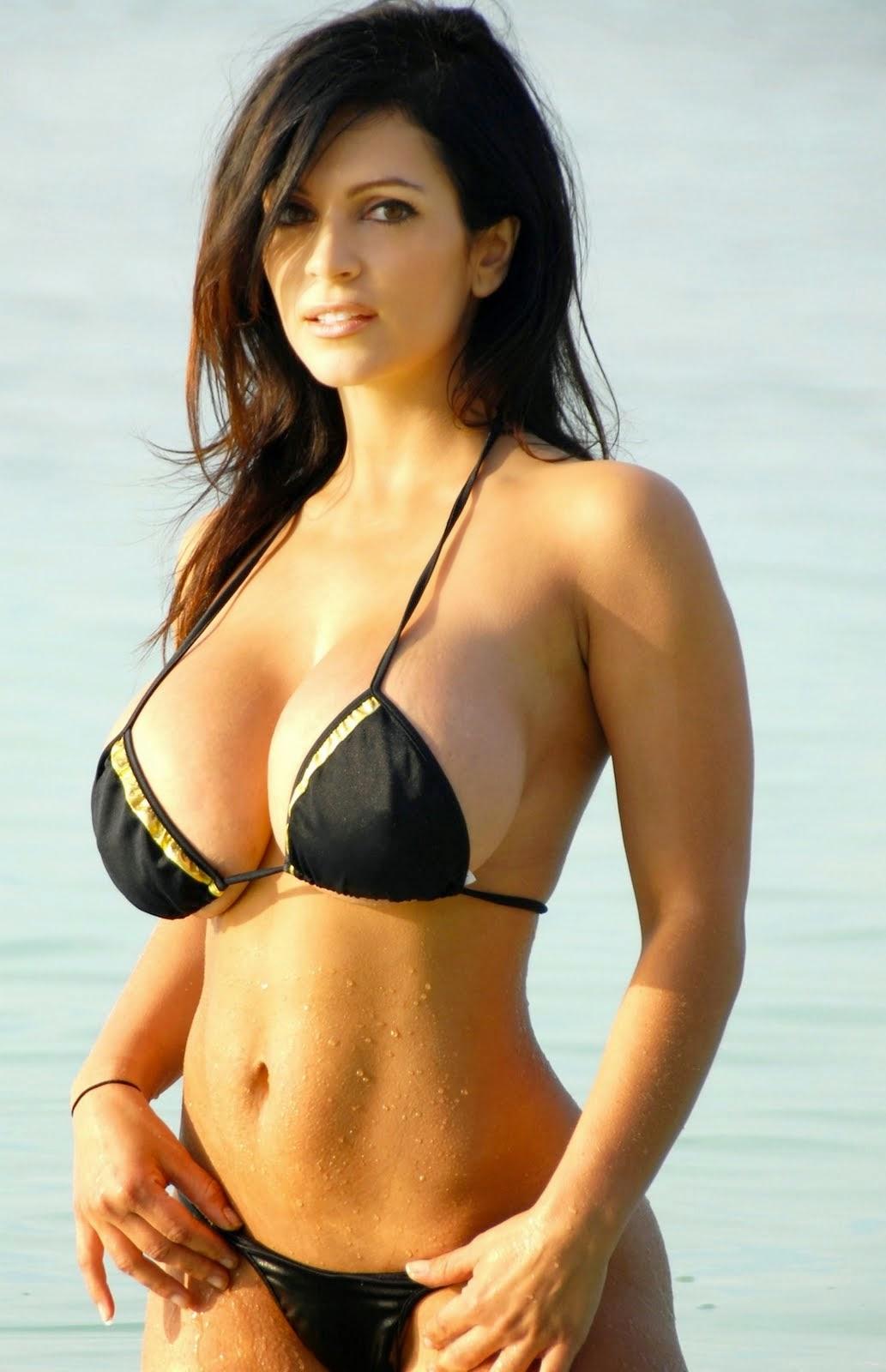 Denise milani sexy black bikini ( Set A ) - Bikini Swimwear
