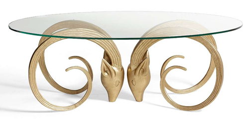 Copy Cat Chic: Brass Ram's Head Coffee Table