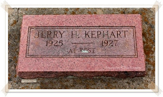 Jerry Hollister Kephart Grave Wellston OK