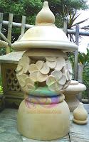 Lampion taman minimalis bunga kamboja