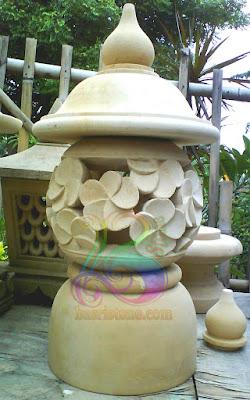 Tempat lampu Lampion Taman Motif Bunga kamboja