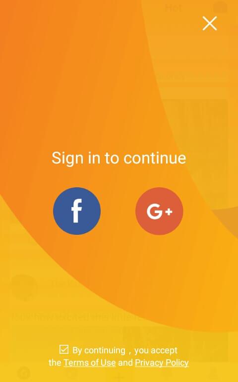 """silahkan mendaftar atau membuat akun dengan cara memilih ikon """"Profile"""" yang berada di pojok kanan bawah dan pilih masuk menggunakan Facebook ataupun Google dan ikuti langkah selanjutnya."""