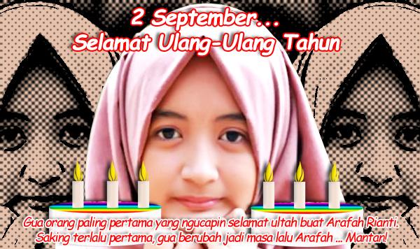 arafah rianti ulang tahun di 2 septermber