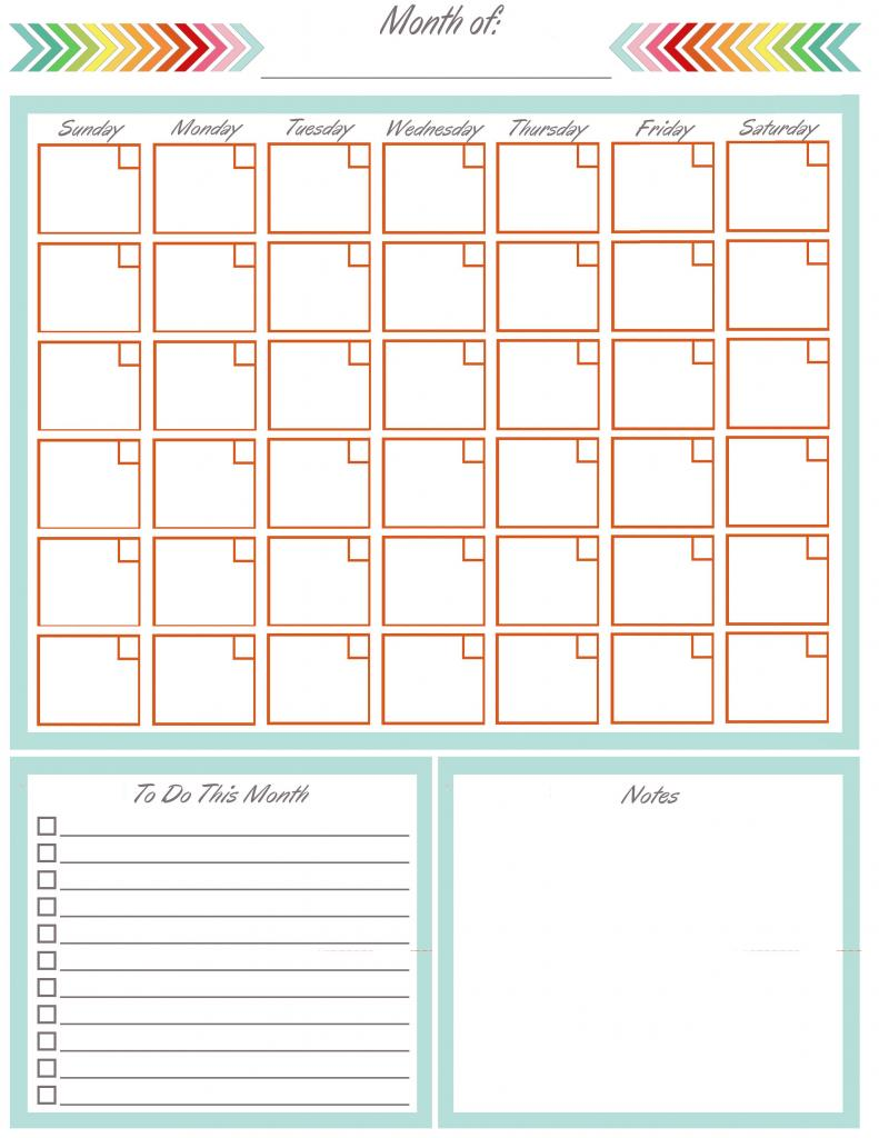 Monthly Calendar Notebook : Musings of an average mom free printable blank calendars