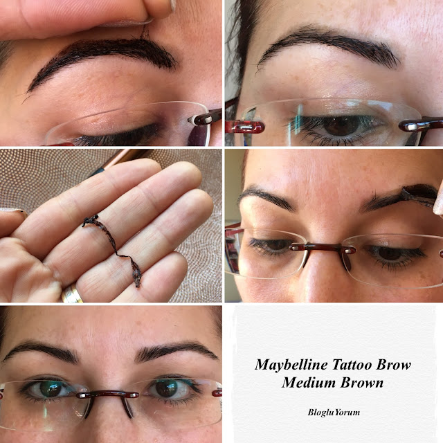 maybelline tattoo brow kaş dövmesi medium brown incelemesi 5