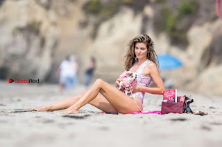 Rachel McCord In Swimsuit seen on the beach with her dog 033 ~ Celebs.in Exclusive