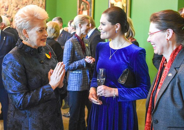 Crown Princess Victoria wore IDA-SJOSTEDT double breasted coat. Lithuania's President Dalia Grybauskaitė. Lithuania celebrates 100th anniversary