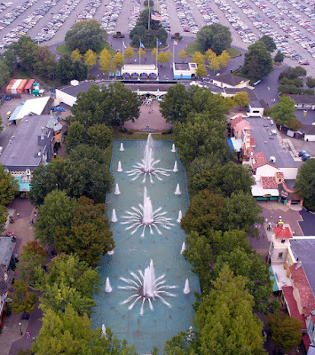 the view from the top of the Kings Dominion Eiffel Tower