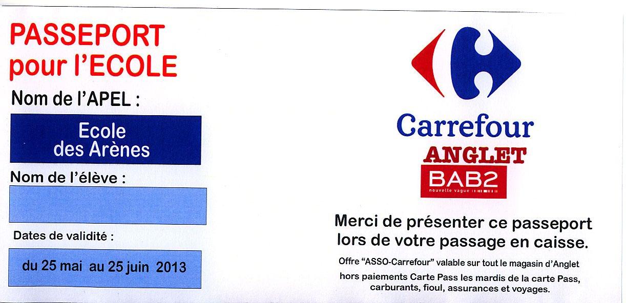 Carte Carrefour Ticket De Caisse.Ape Des Arenes Partenariat Carrefour