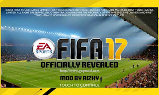 FTS Mod FIFA 17 by Rizky Apk + Data Obb