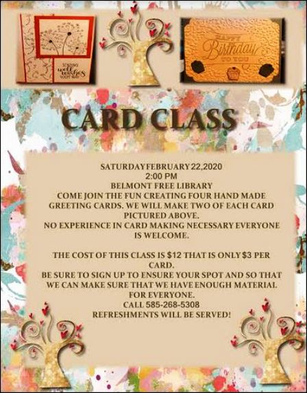 "2-22 ""Card Class"" at Belmont Free Library"