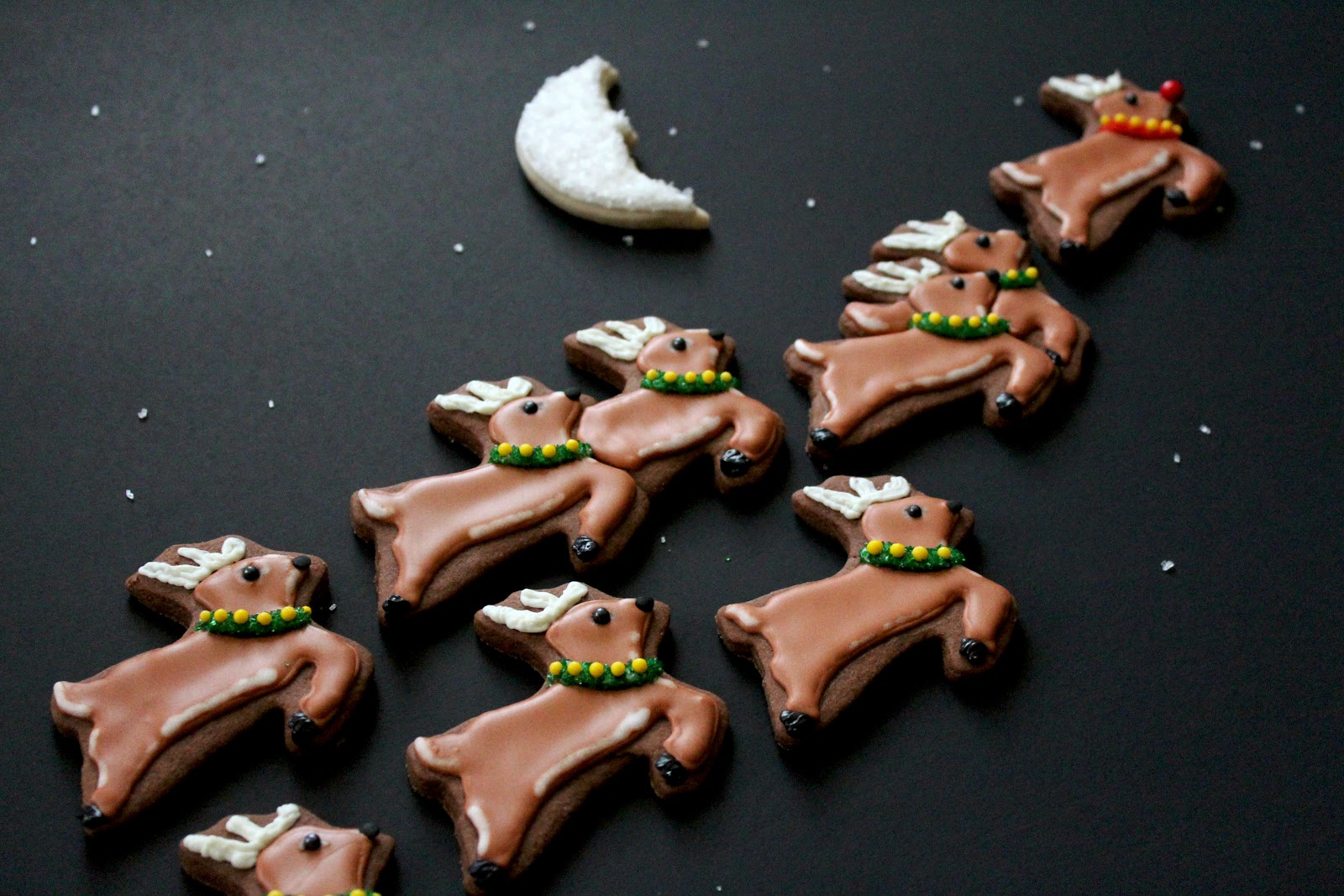 Worth Pinning  Reindeer   Sleigh Cookies I really enjoy decorating a cookie I haven t seen too many times or many  variations thereof  Reindeer are one of the not so popular cookie  designs   and for