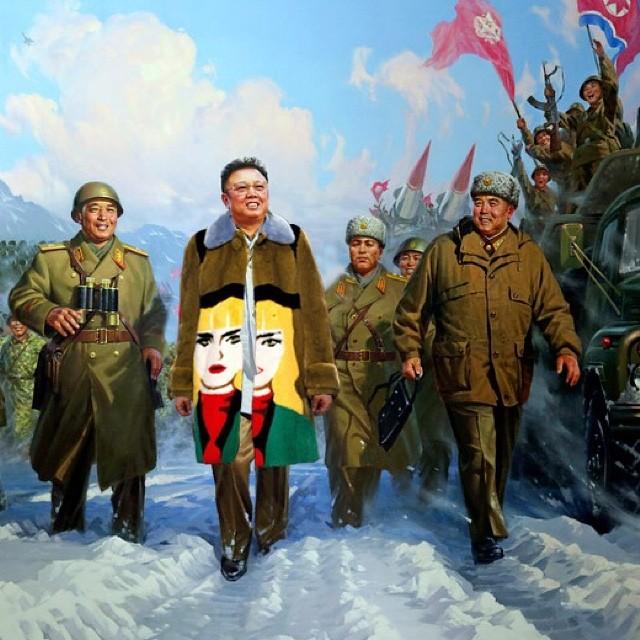 The Kim Jong-illest in Prada coat.