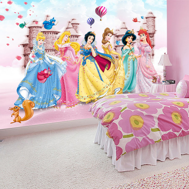 Childrens wall murals kids room Photo Wallpaper 3D Princess Castle Bedroom Decoration Baby Girl Room Wall Mural Princesses