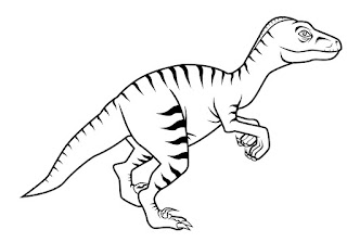 The Latest Velociraptor Coloring Pages