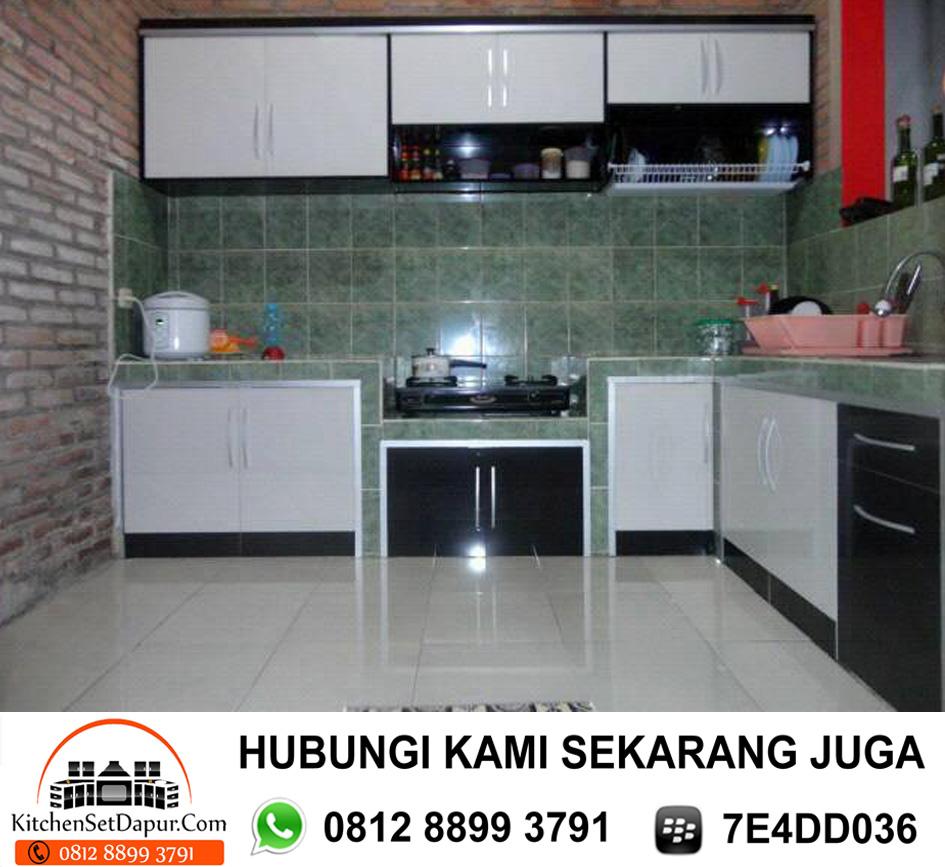 Pembuatan kitchen set aluminium murah depok for Harga kitchen set stainless per meter