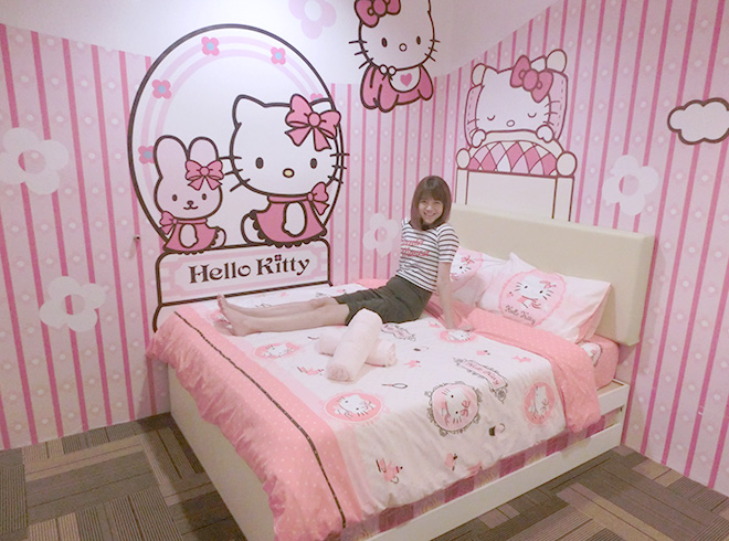 Lie With This Many Hello Kitty And Just Watch The Tv Get Cooled Down By Aircon All On A Hot Afternoon
