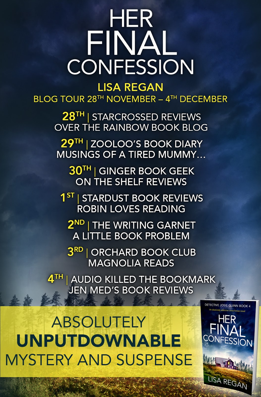 Today is my stop on the Blog Tour for Her Final Confession by Lisa Regan.