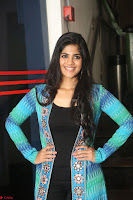 Megha Akash in a beautiful Anarkali dress with Long Jacket at LIE success meet ~  Exclusive Celebrities Galleries 027.JPG