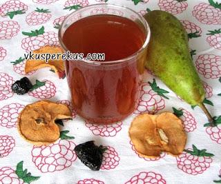 напиток из сушеных яблок с черносливом и грушей