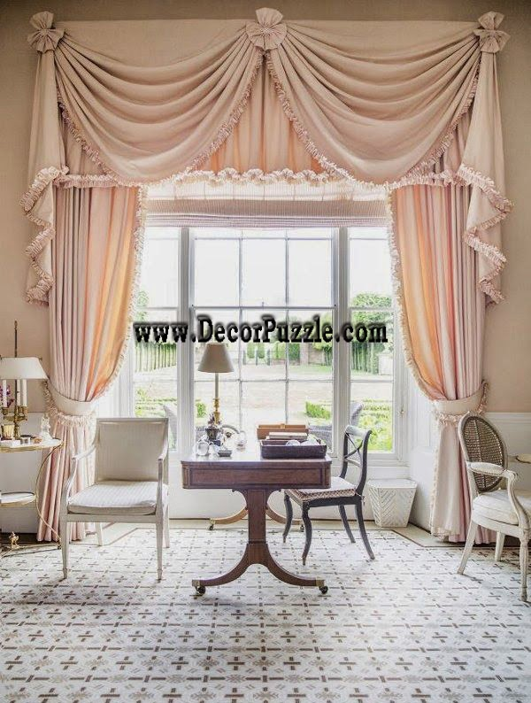 classic curtain style 2017, curtain designs for large door