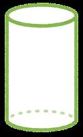 立体のイラスト(円柱)