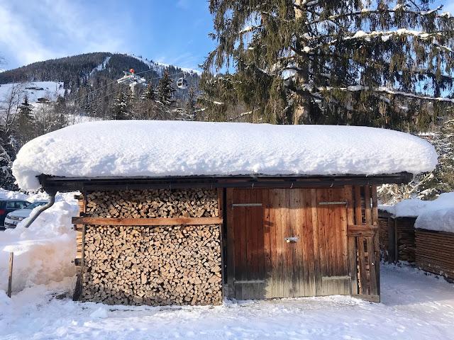Skiing in Alpbach, Austria by Dawn B. LeroyLime