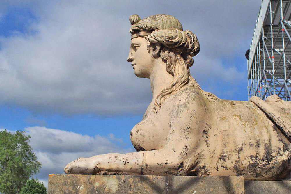 Coade stone sphinxes at Croome Park, Worcestershire
