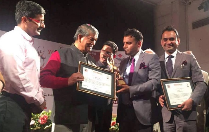"Gorkha brothers awarded Youth Icon Award 2015-16 by ""Youth Icon India"" in Dehradun."