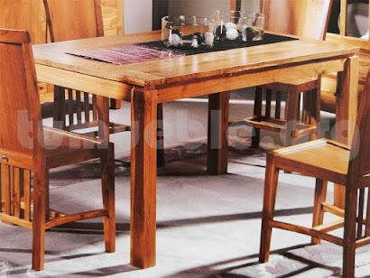 mesa comedor rectangular en teca 4007