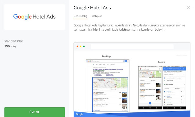 otel reklam internet