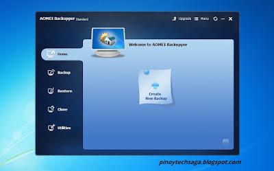 AOMEI Backupper Standard main interface