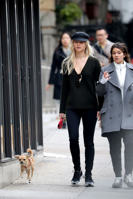 Jennifer Lawrence Street Style – Out With Her Dog in NYC