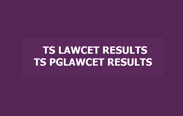 TS LAWCET Results, TS PGLCET Results, Rank Cards 2019 at lawcet.tsche.ac.in