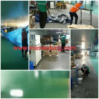 jasa epoxy lantai beton harga borong pekerjaan epoxy