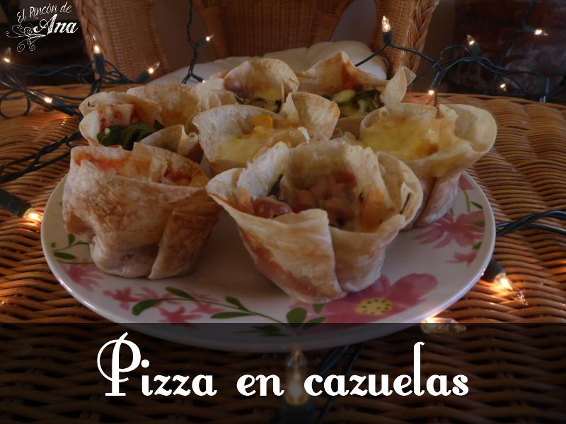 Pizza en cazuelas