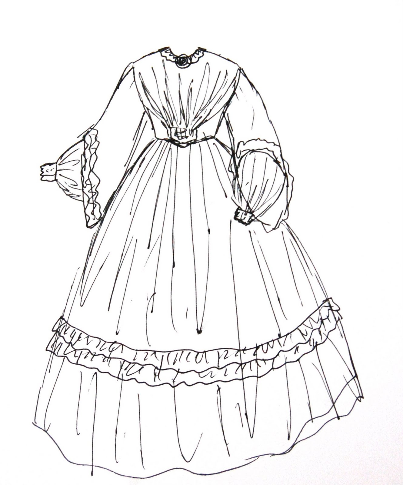 The Story Of A Seamstress Historical Dress For The Oaks