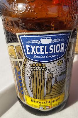 beer bottle, front label - Excelsior Bitteschlappe Brown Ale