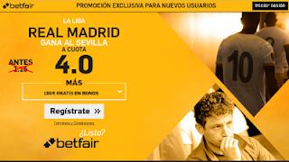 betfair supercuota 4 Real Madrid gana Sevilla Liga 14 mayo