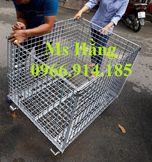 Xe đẩy trữ hàng,lồng thép,pallet lưới