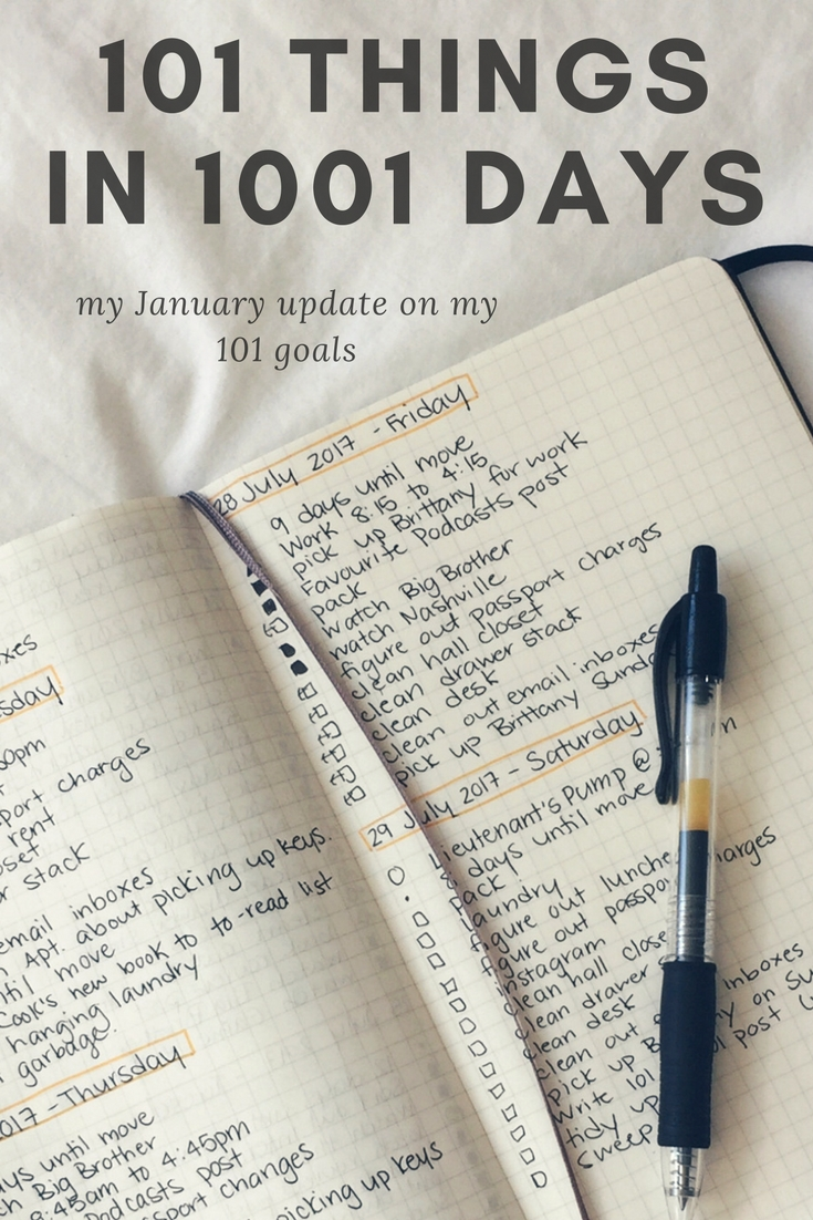 101 things in 1001 days - January Update | kathleenhelen