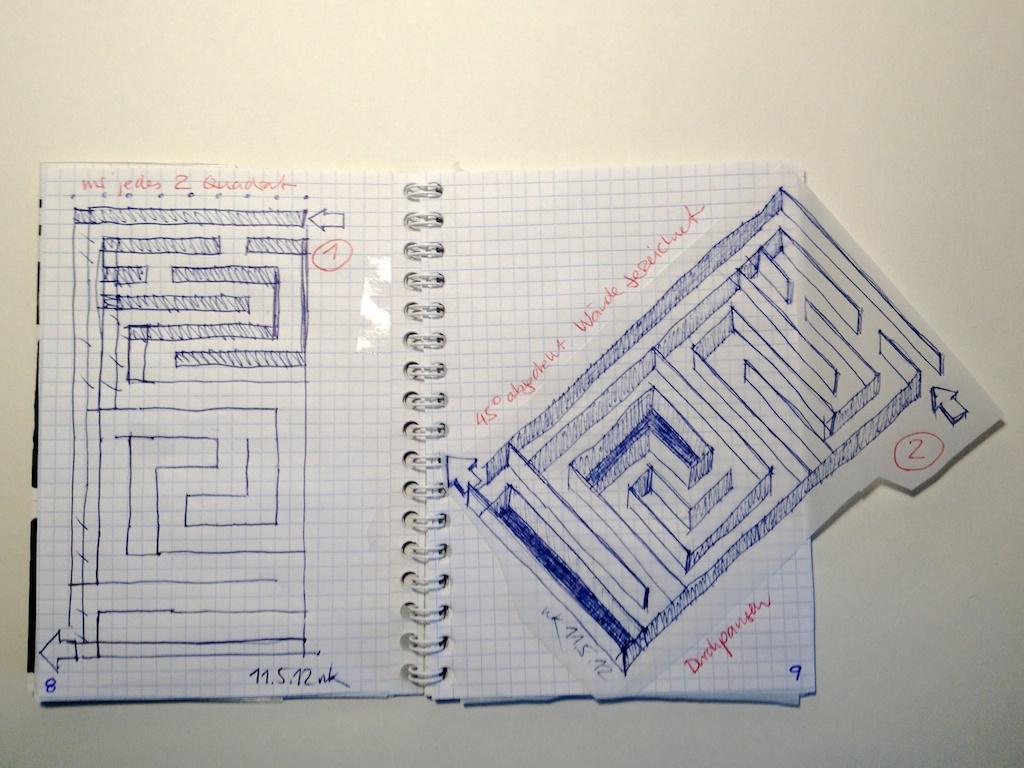 schaeresteipapier labyrinthe und irrgaerten teil  auf