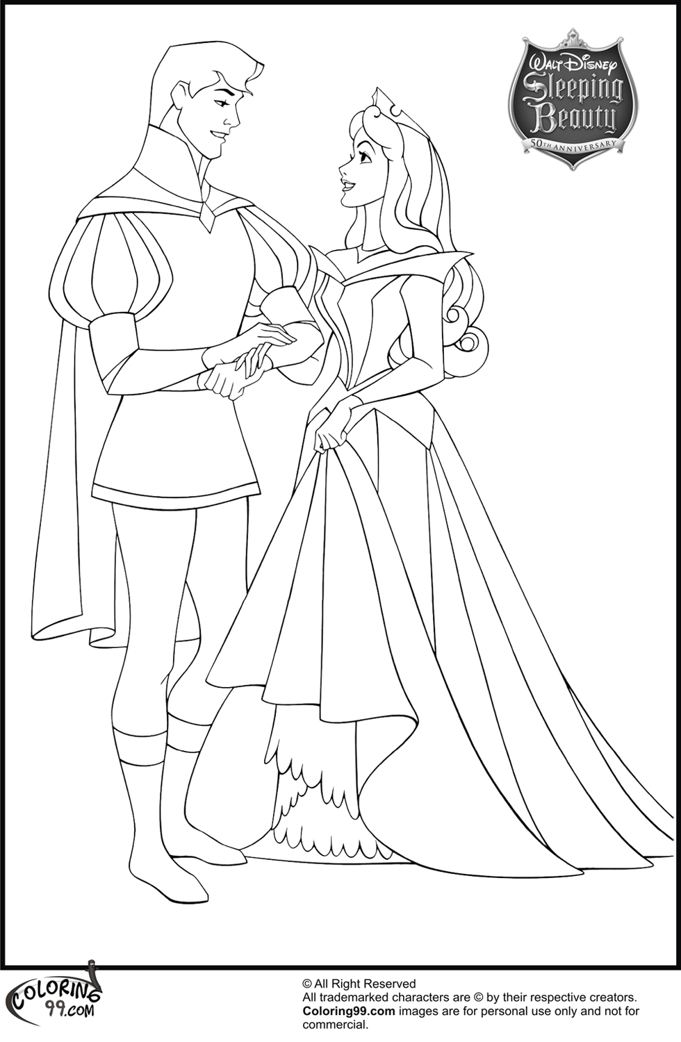 It is a picture of Astounding Princess Aurora Coloring Pages