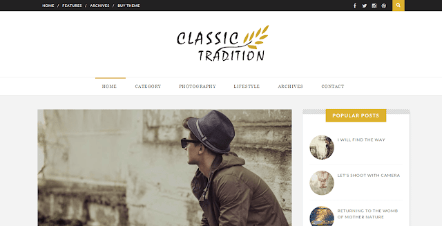 Classic Tradition Blogger Template